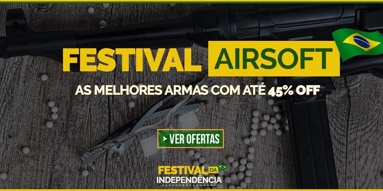 Festival Airsoft - As melhores Armas com até 45% Off