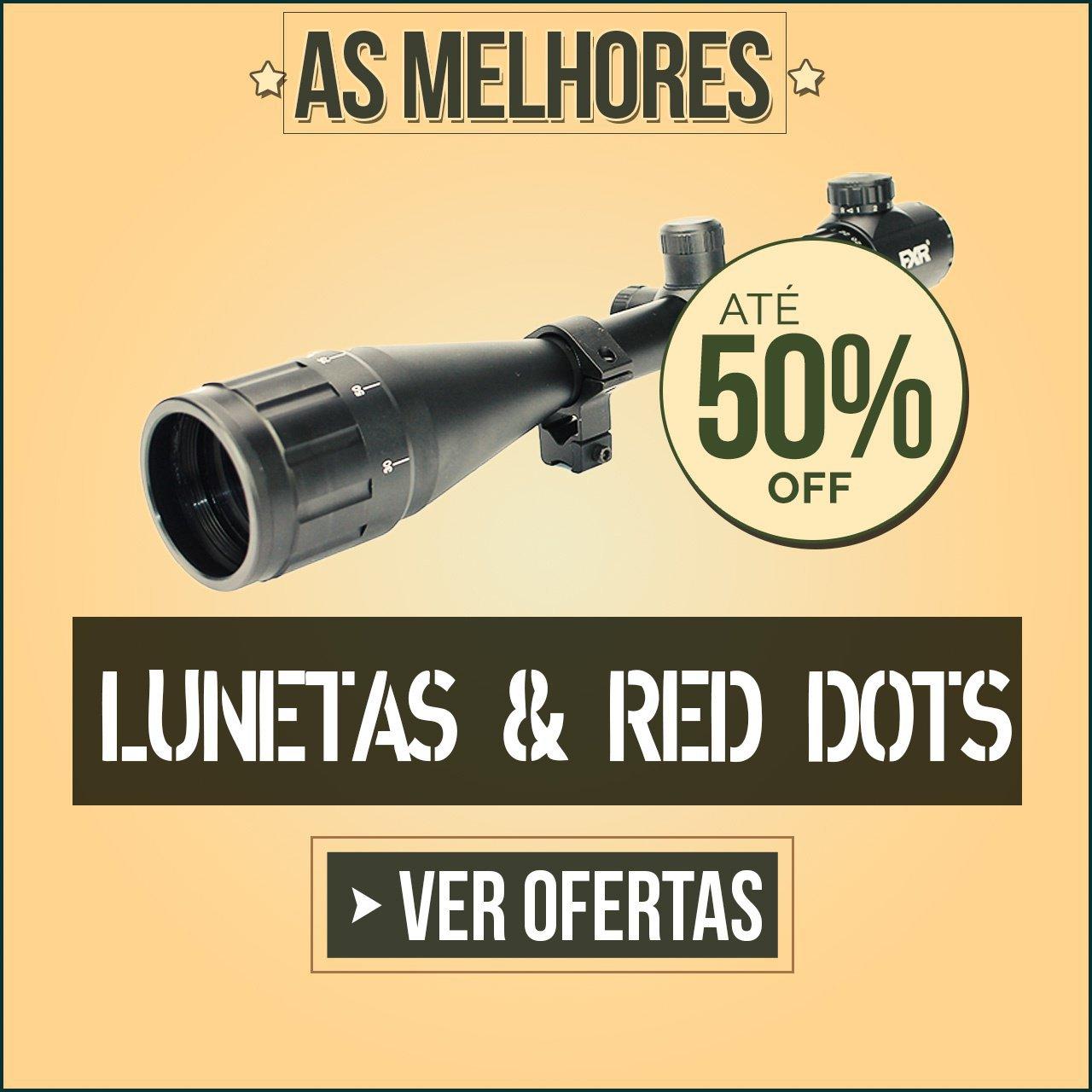 AS MELHORES LUNETAS & RED DOTS - ATÉ 50% OFF