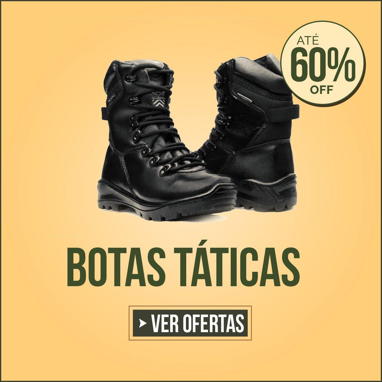 BOTA TÁTICAS COM ATÉ  60% OFF