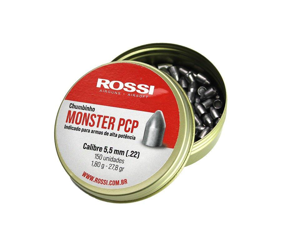 Chumbinho Rossi Monster Cal 5,5mm - Com 150 Unidades