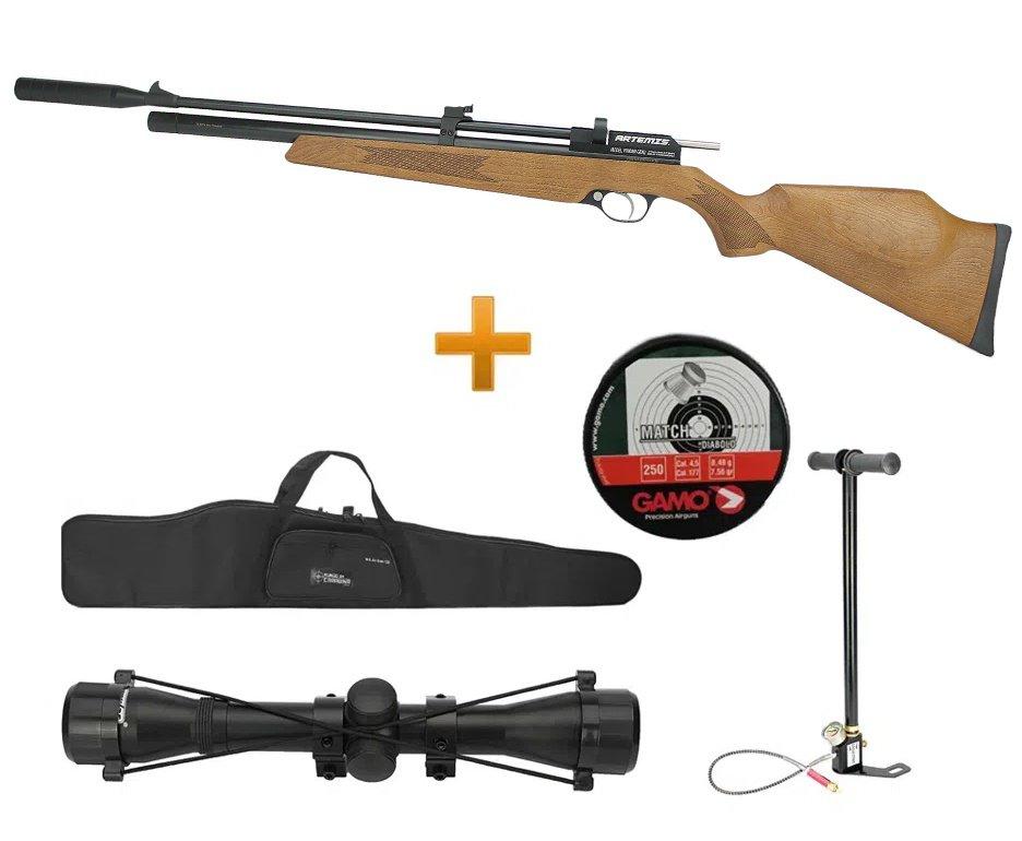 Carabina De Pressão Pcp Pr900w G2 4,5mm New Genaration Artemis + Bomba Manual + Luneta 4x32 + Capa