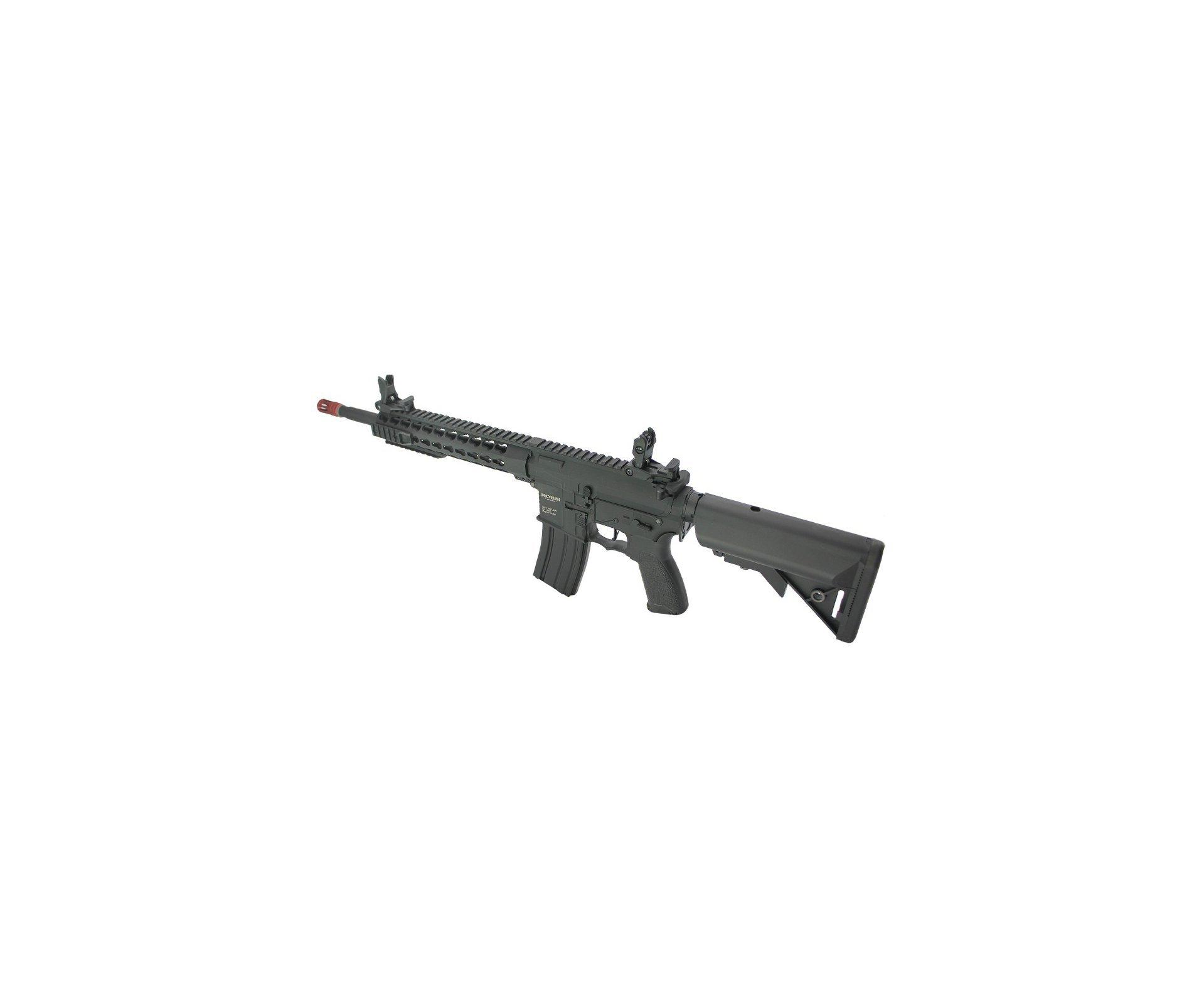 "Rifle De Airsoft Ar15 Neptune Full Metal Keymod 10"" Gatilho Et Elet 6mm Rossi + Capa Case + Bbs Raptor 0,30g"
