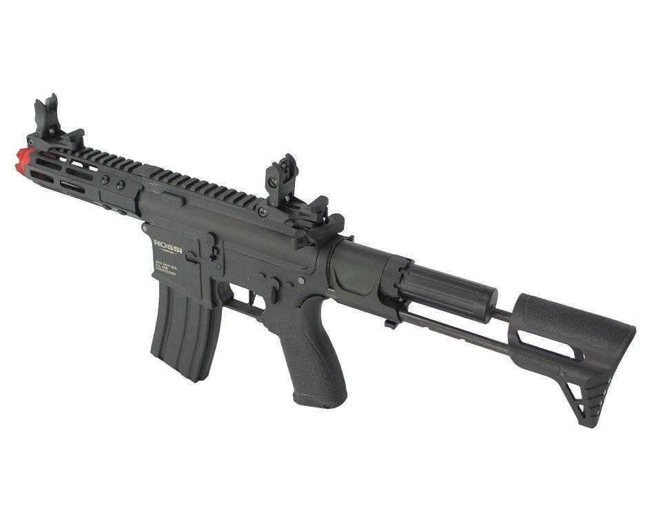 "Rifle De Airsoft Pdw Rossi Ar15 Neptune 6mm Keymod 5,5"" Com Gatilho Et + Capa Case Mdc + Esfera Plastica 0,20g 4000uni + Bbs Raptor 0,28g 2000uni"