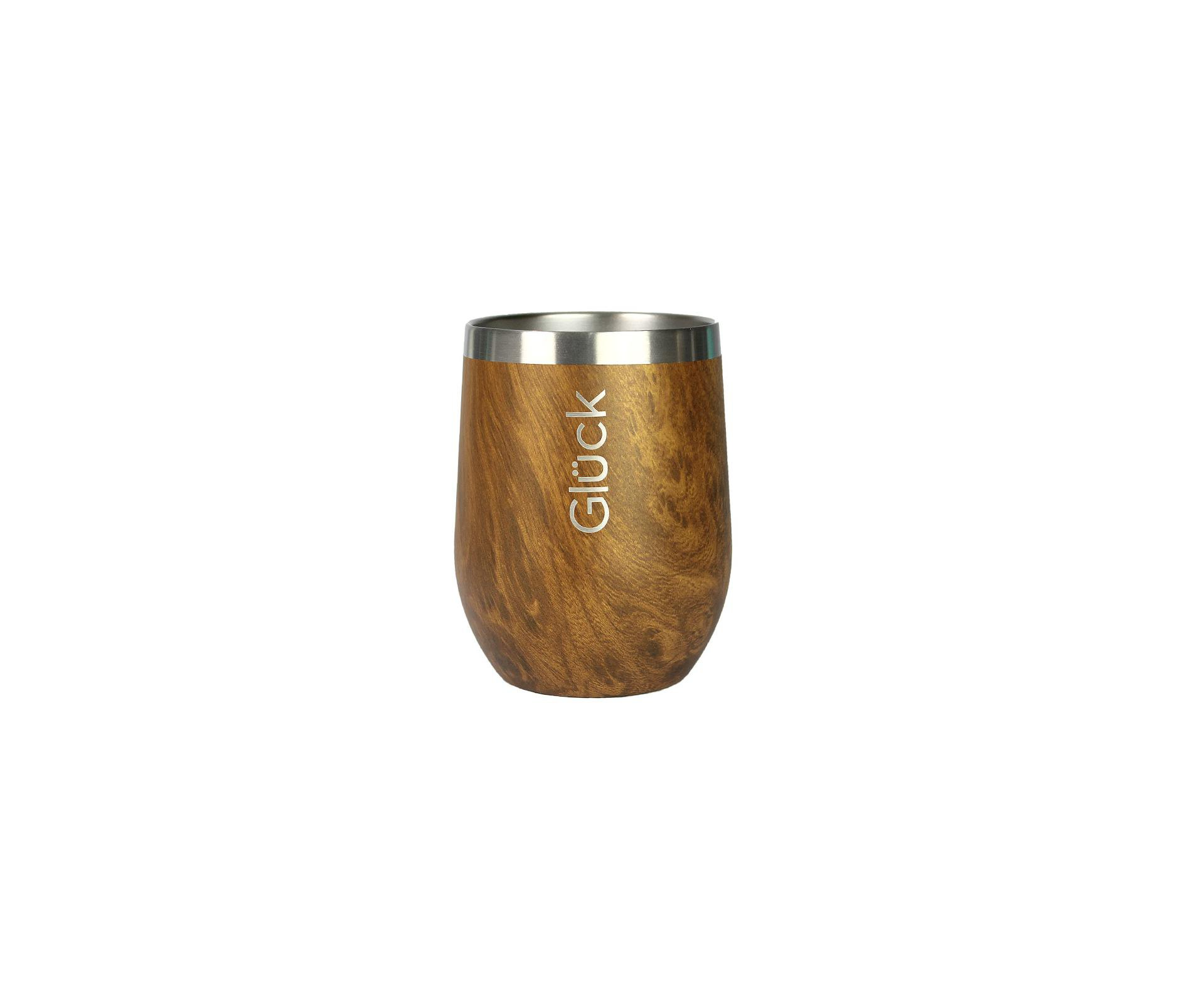 Copo Térmico Gluck Whisky Spirit 354ml Wood