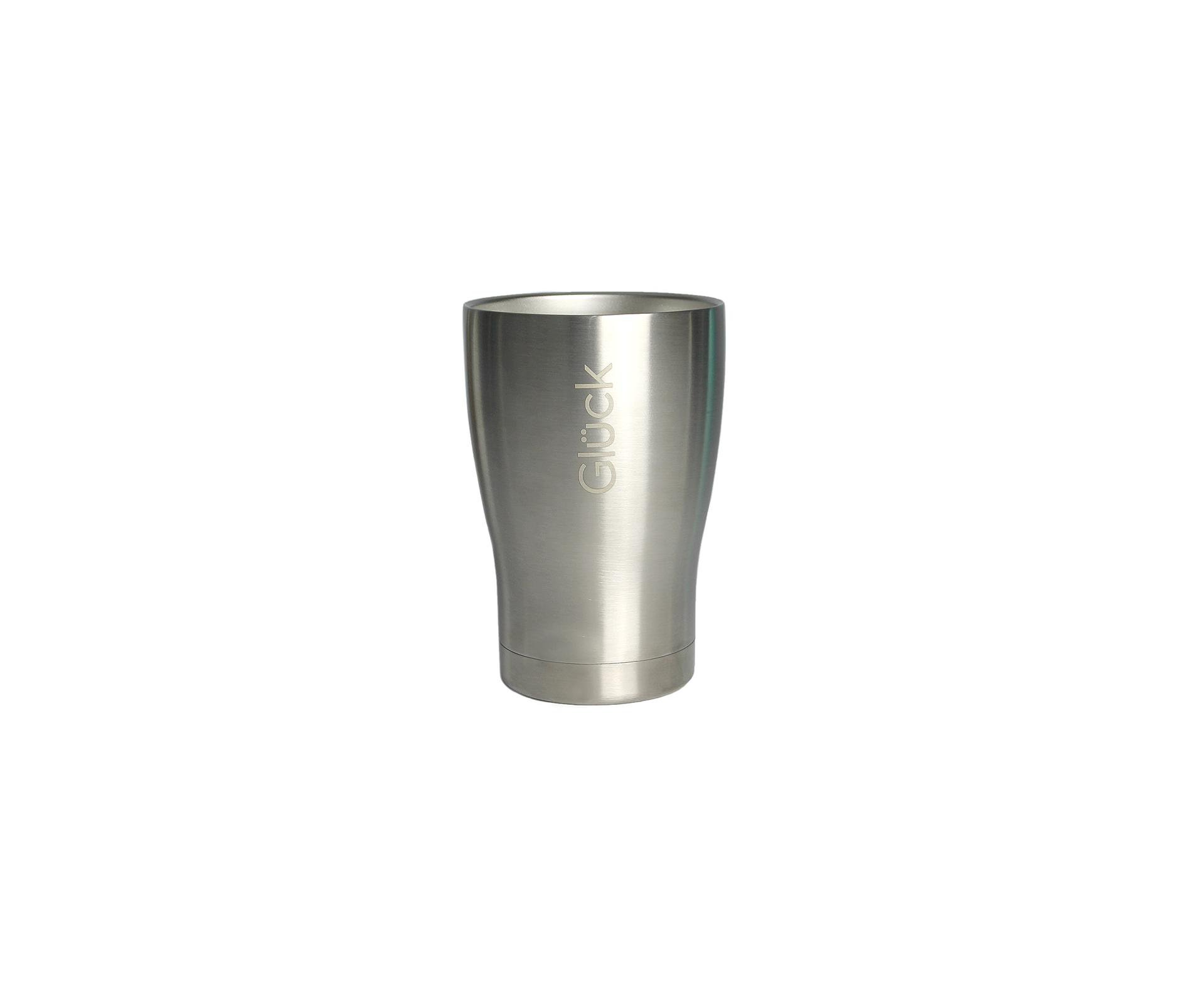 Copo Térmico Gluck Tulipinha 354ml Silver Steel
