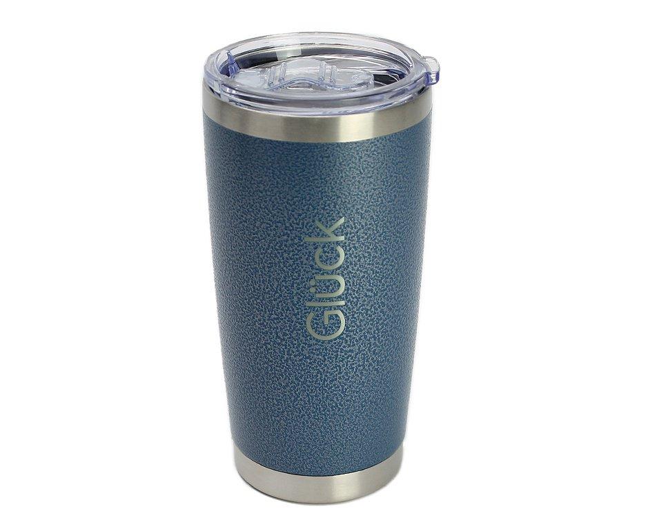 Copo Térmico Para Cerveja Lucky 591ml Inox Hammer Blue - Gluck