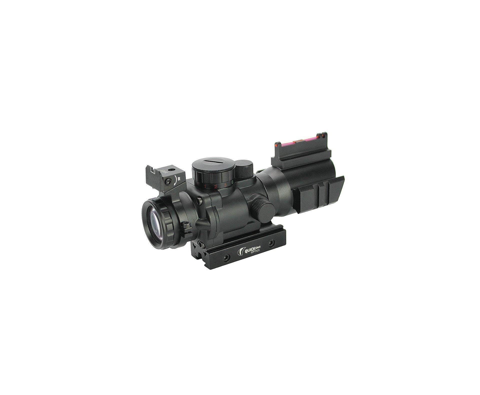 Luneta/red Dot Acog Mira Holográfica Titan Tactical 4x32 Trilho De 11/22mm