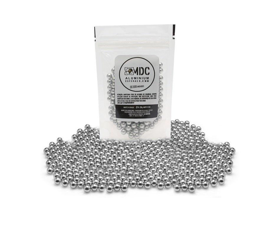 Esfera Munição de Alumínio BBs 0,28g 6.0mm Ultra polida com 300un - MDC