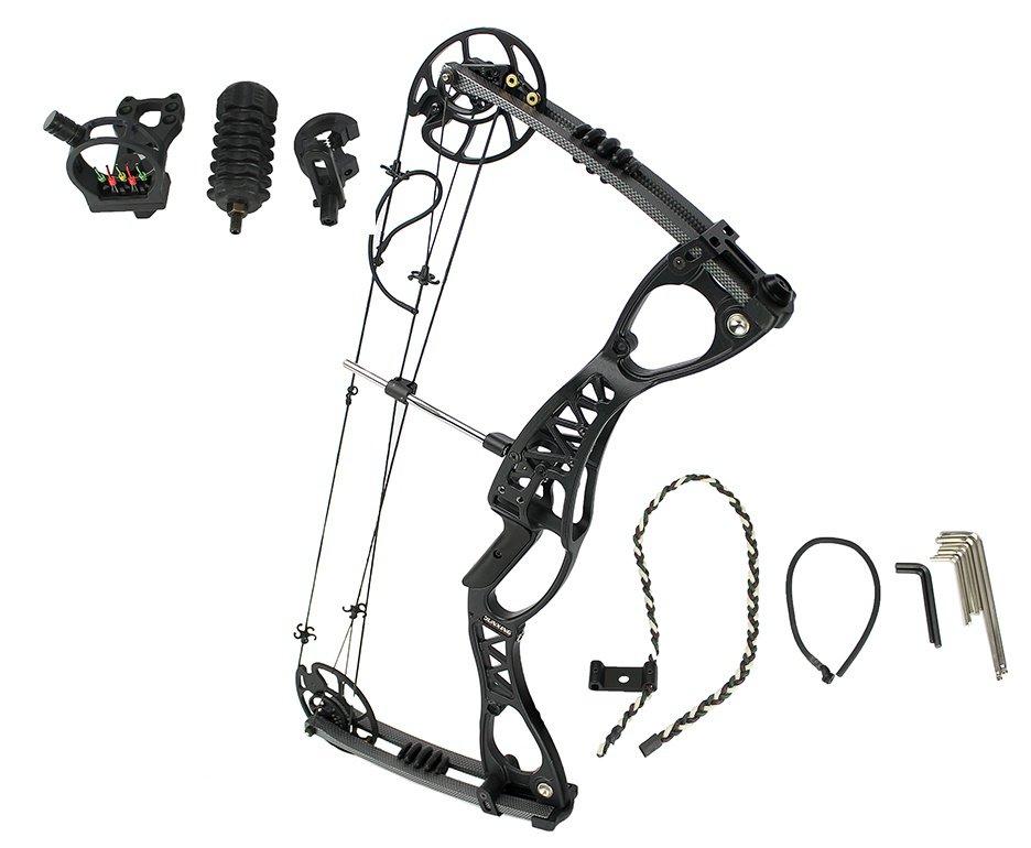 Conjunto de Arco Composto e Flecha M127 - Junxing Archery