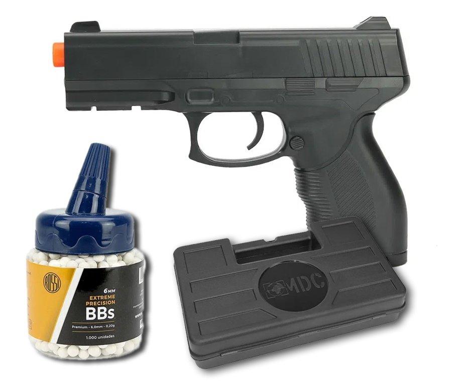 Pistola de Airsoft Vigor Spring VG 24/7 V310 Rossi 6mm + BBs 0,20 Rossi + Case