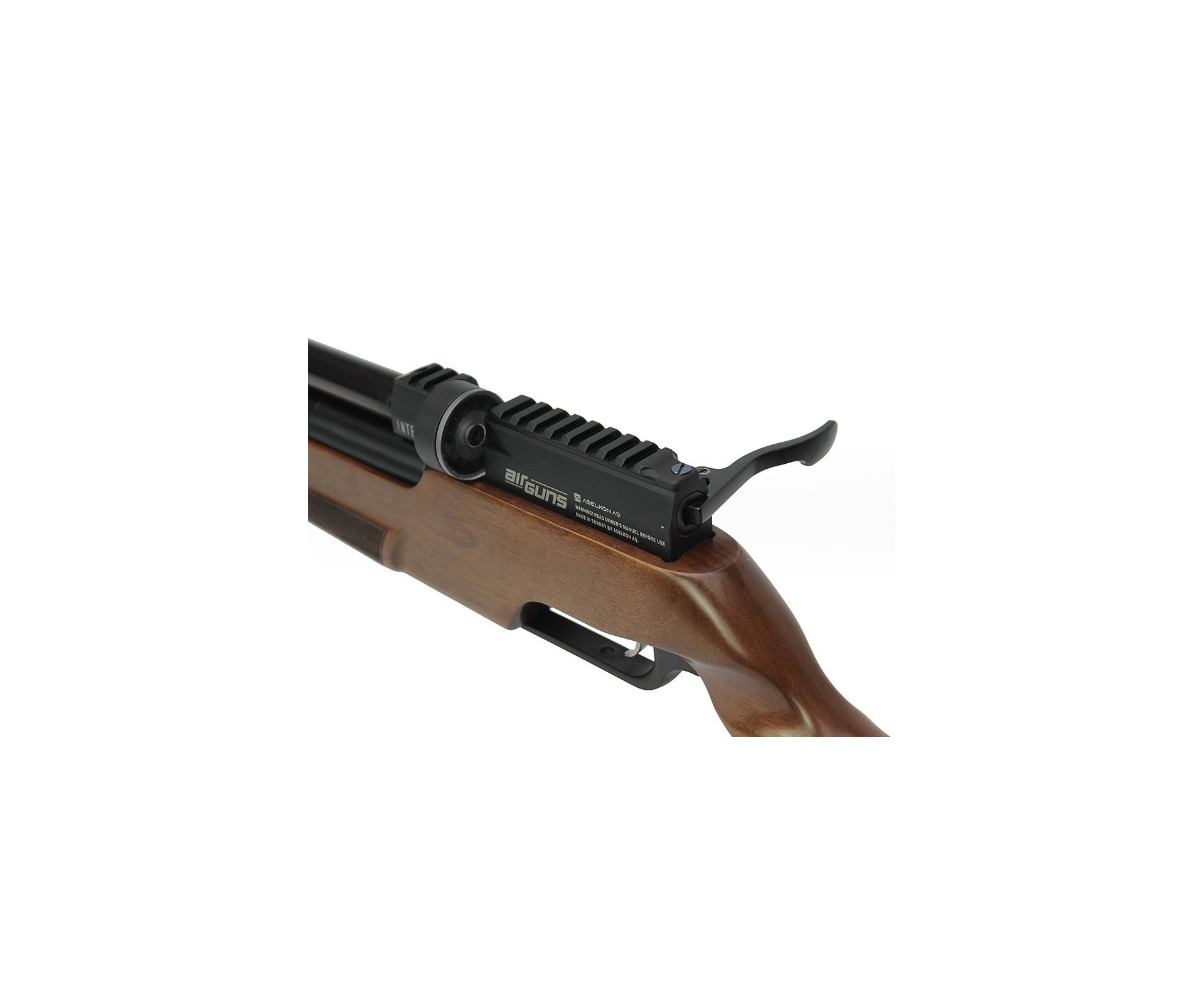 Artefato de Pressão PCP MX5 Matte Black Wood Regulated 5.5mm Aselkon