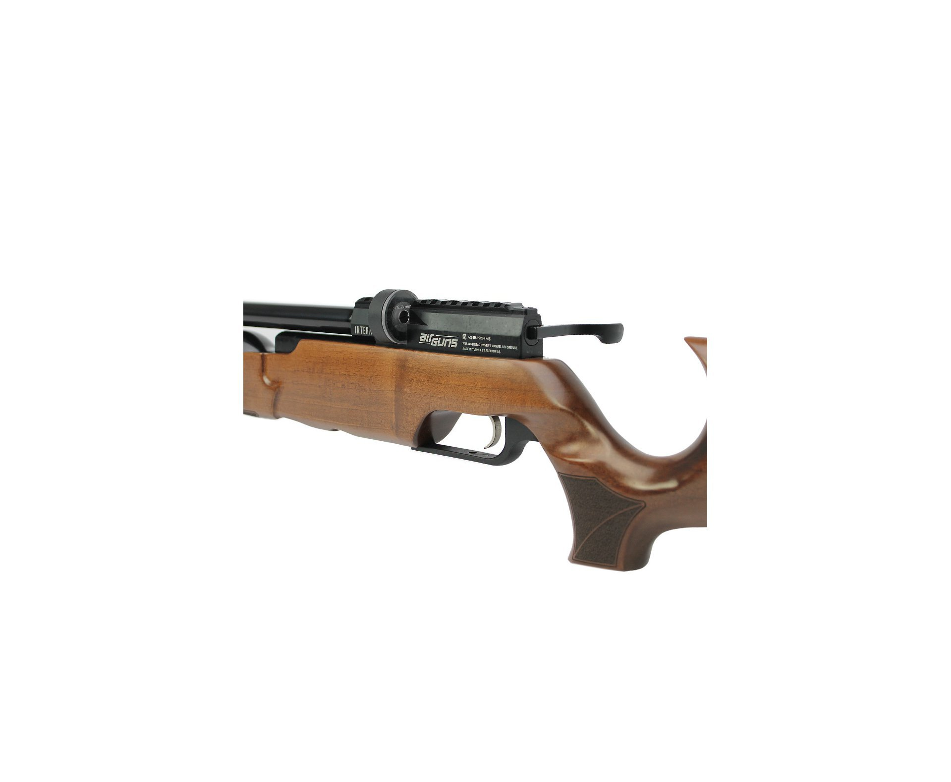 Artefato de Pressão PCP MX6 Matte Black Wood Regulated 6.35mm Aselkon