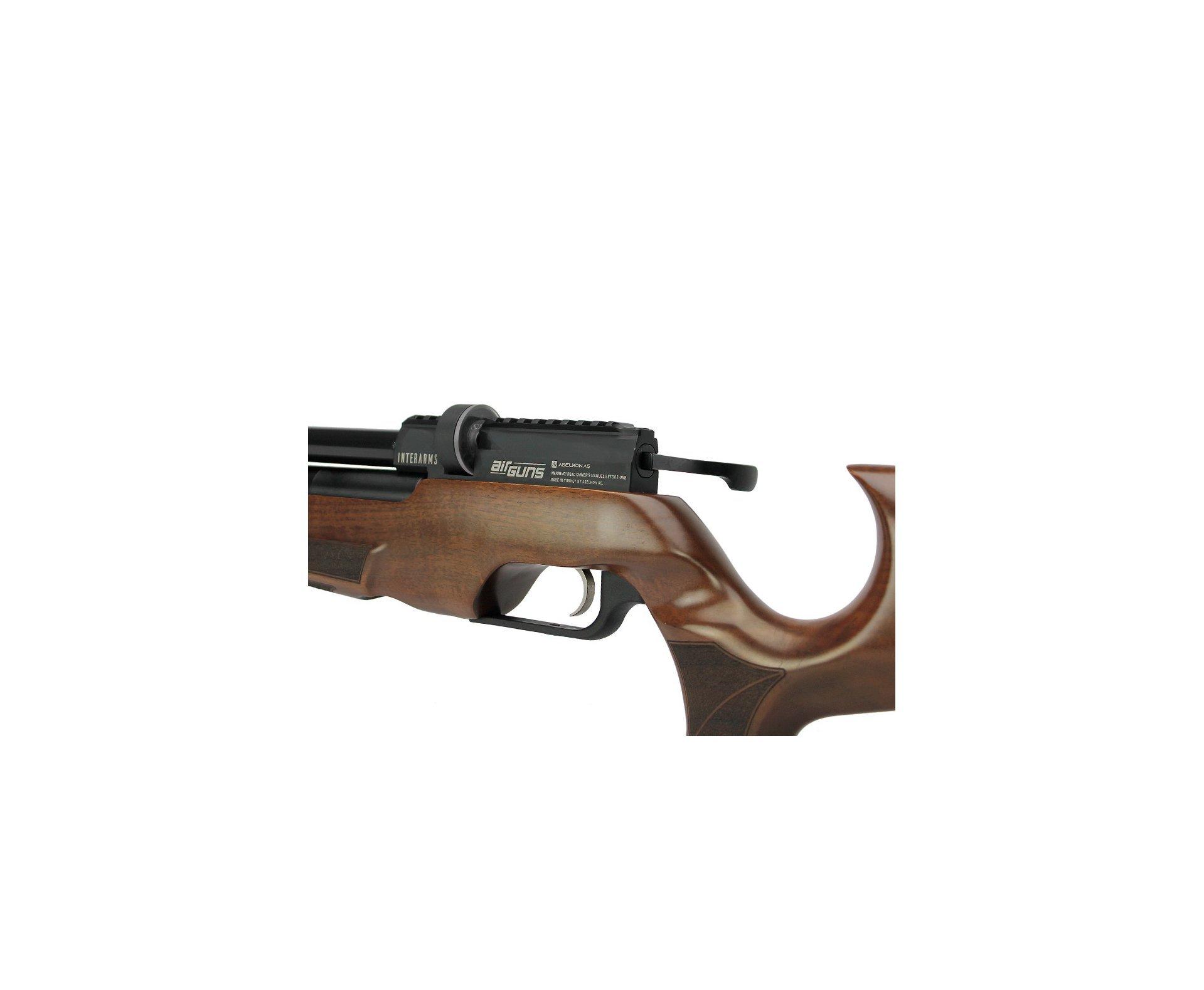 Artefato de Pressão PCP MX5 Matte Black Wood Regulated 6.35mm Aselkon