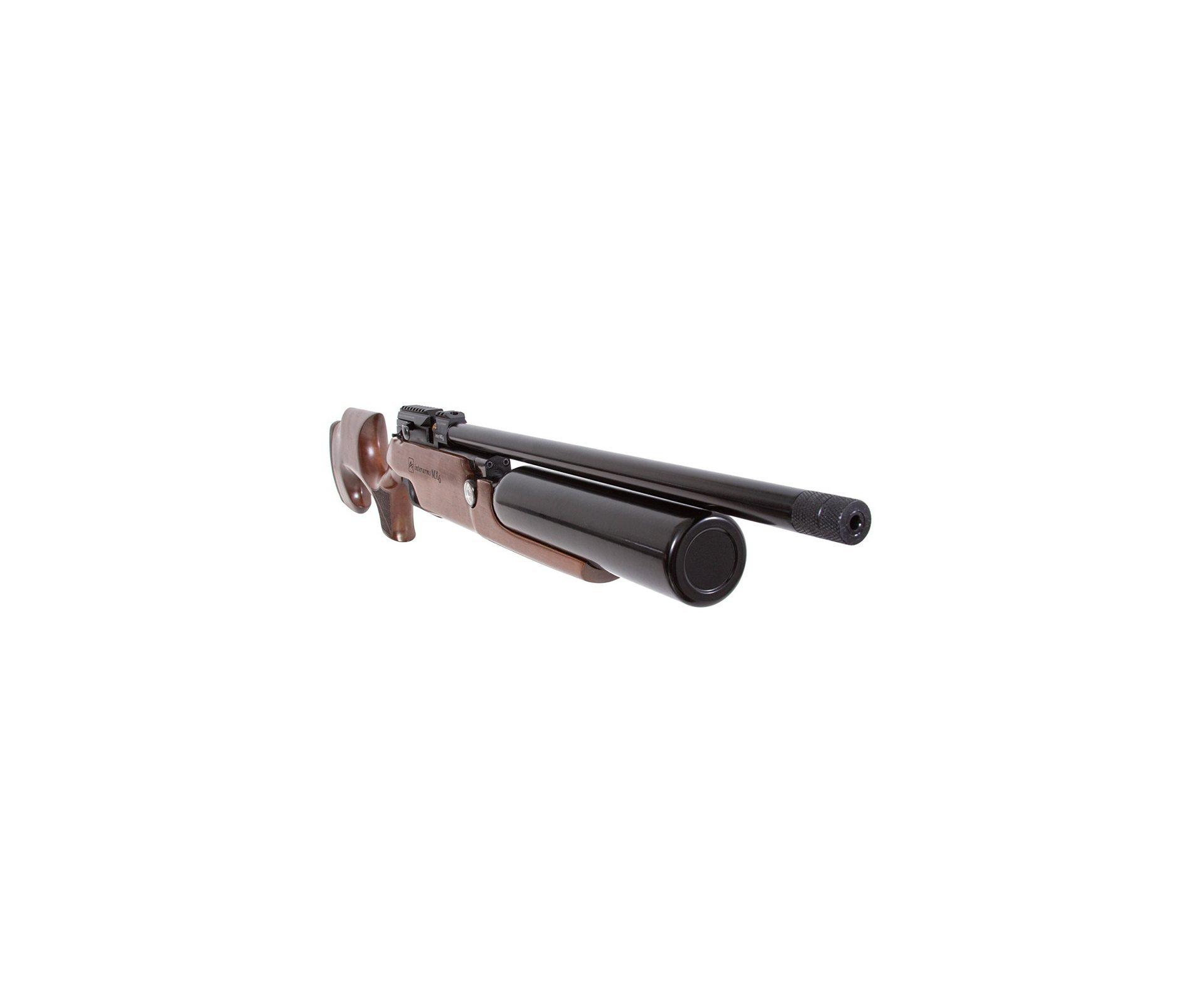 Artefato de Pressão PCP MX6 Matte Black Wood Regulated 5.5mm Aselkon