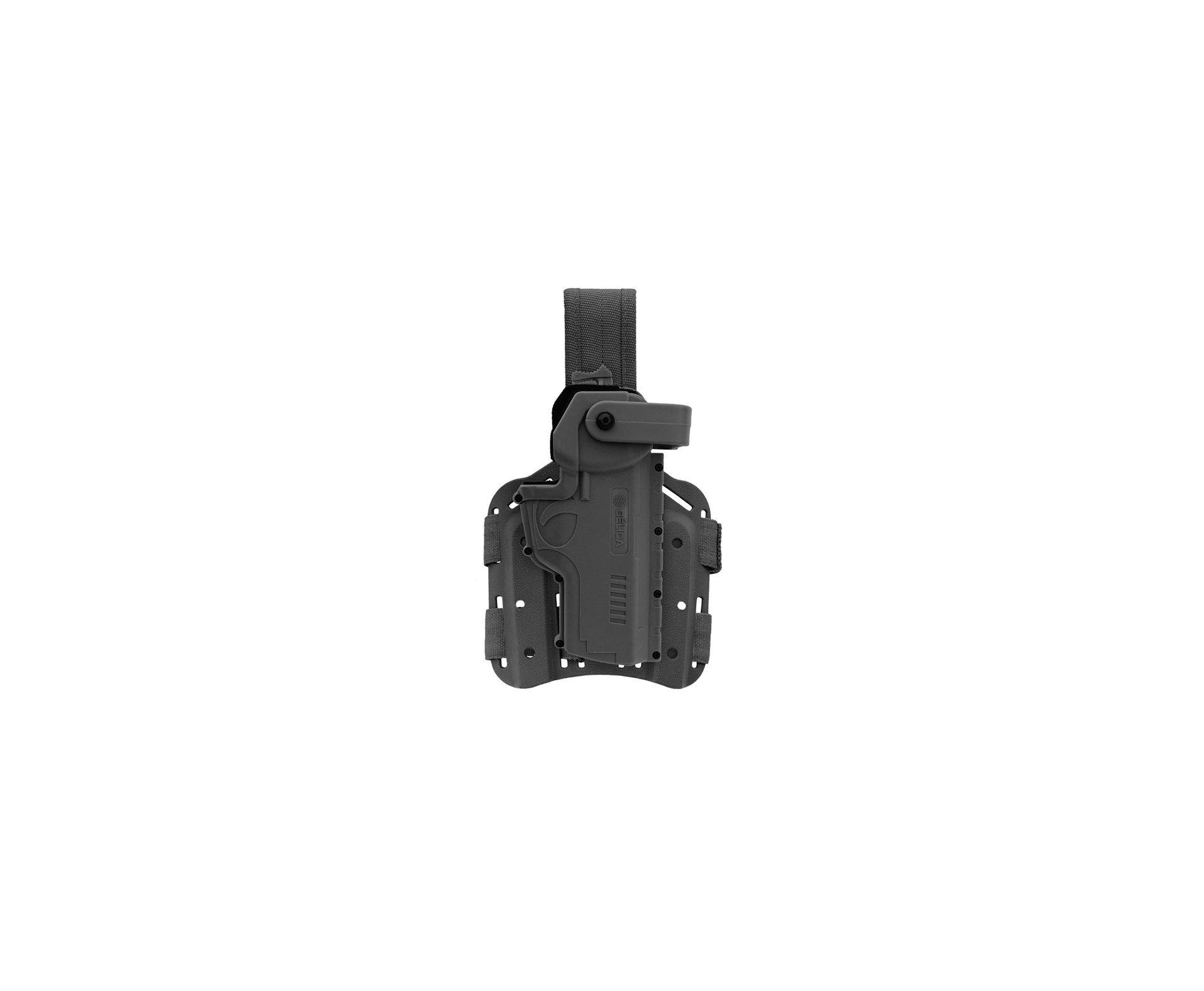 Coldre Hammer Ii De Coxa Em Polímero Pistolas Taurus, Glock, Imbel Canhoto - Belica