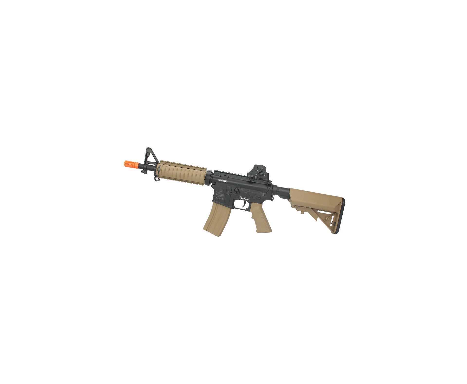 Rifle De Airsoft M4a1 Cqb Ris Colt Dark Earth Cal 6,00mm - Bivolt - Cybergun