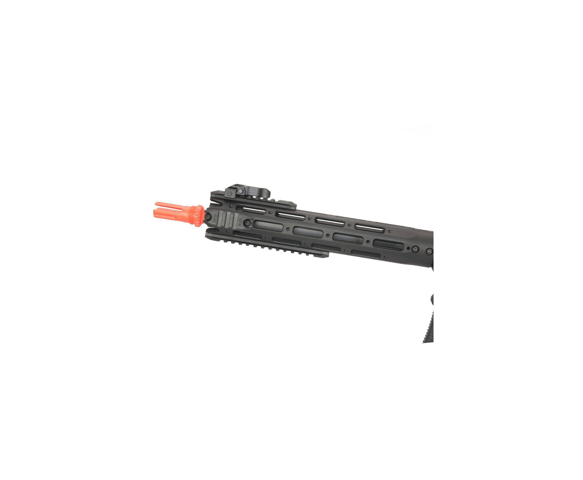 Rifle De Airsoft M4 Ris Long Amoeba Am-009-bk - Cal 6.0mm - Ares