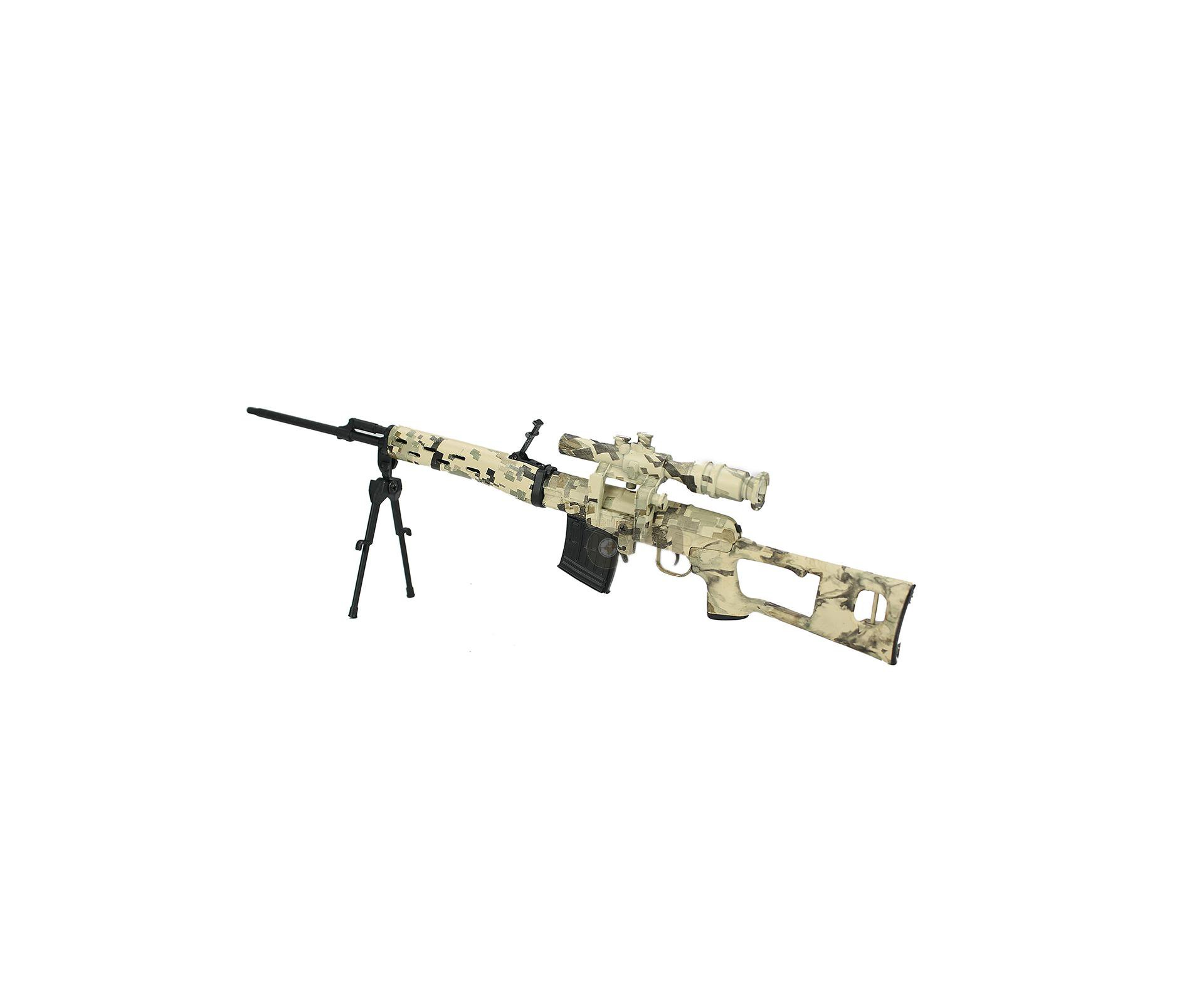 Rifle Sniper Dragunov Camuflada Miniatura Metálica - Arsenal Guns