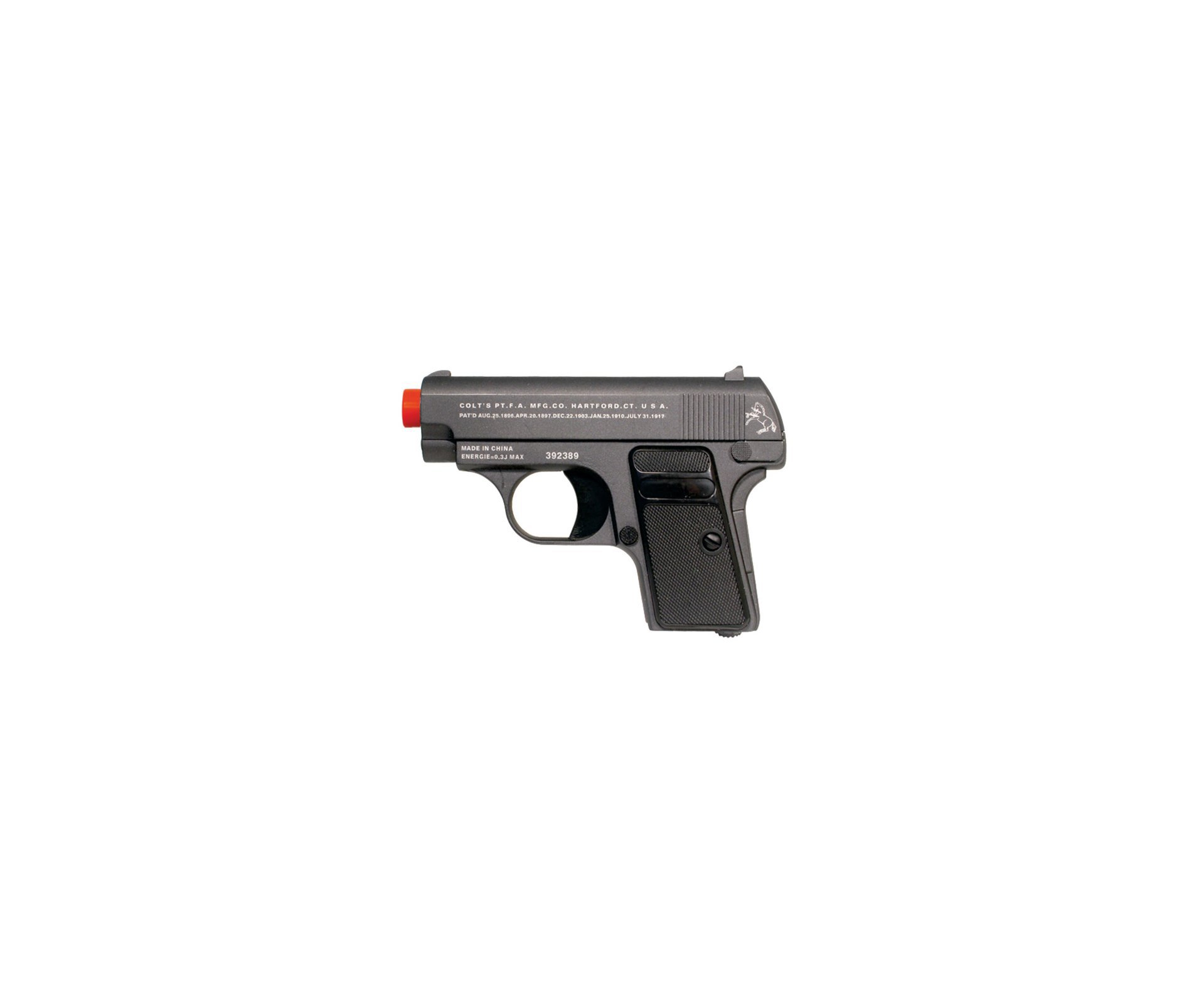 Pistola De Airsoft Colt 25 Full Metal Cal 6,0 Mm + Esferas Actionx 0,12g - Cyber Gun