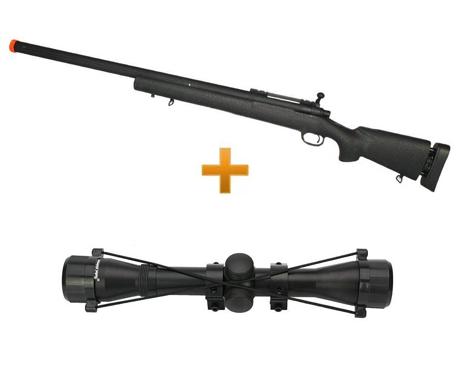 Rifle Airsoft Sniper M24 Spring S.w.s Full Metal 6,0mm Cyma + Luneta 4x32 22mm