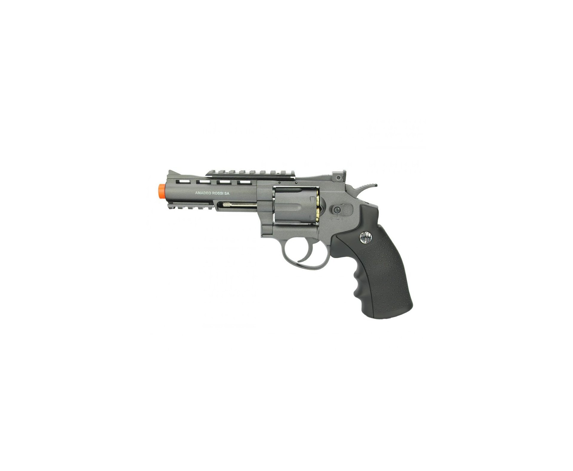 "Revolver 38 Airsoft Gas Co2 6 Tiros 4"" Ox Rossi Full Metal M701 6.0mm Wingun + 02 Co2 + Esferas"
