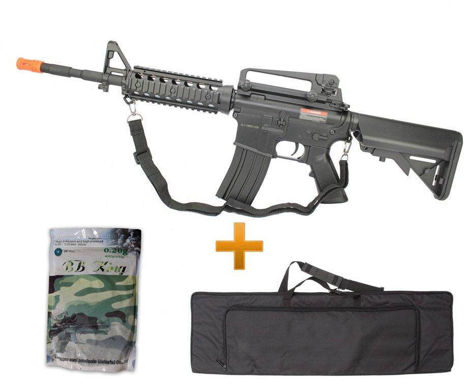 Rifle De Airsoft M4a1 Ris Cm507 Bivolt Cal 6.0mm Cyma + 4000bbs + Capa