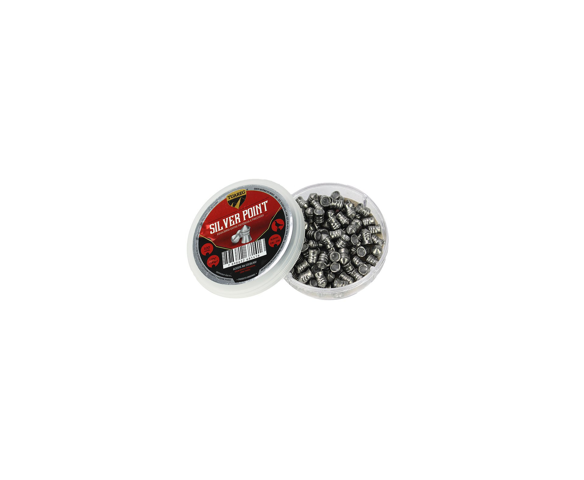 Chumbinho De Pressão Tuareg Premium Silver Point 6,0mm