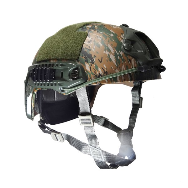 Capacete Tático Para Airsoft/paintball Mod Fast B - Woodland Digital