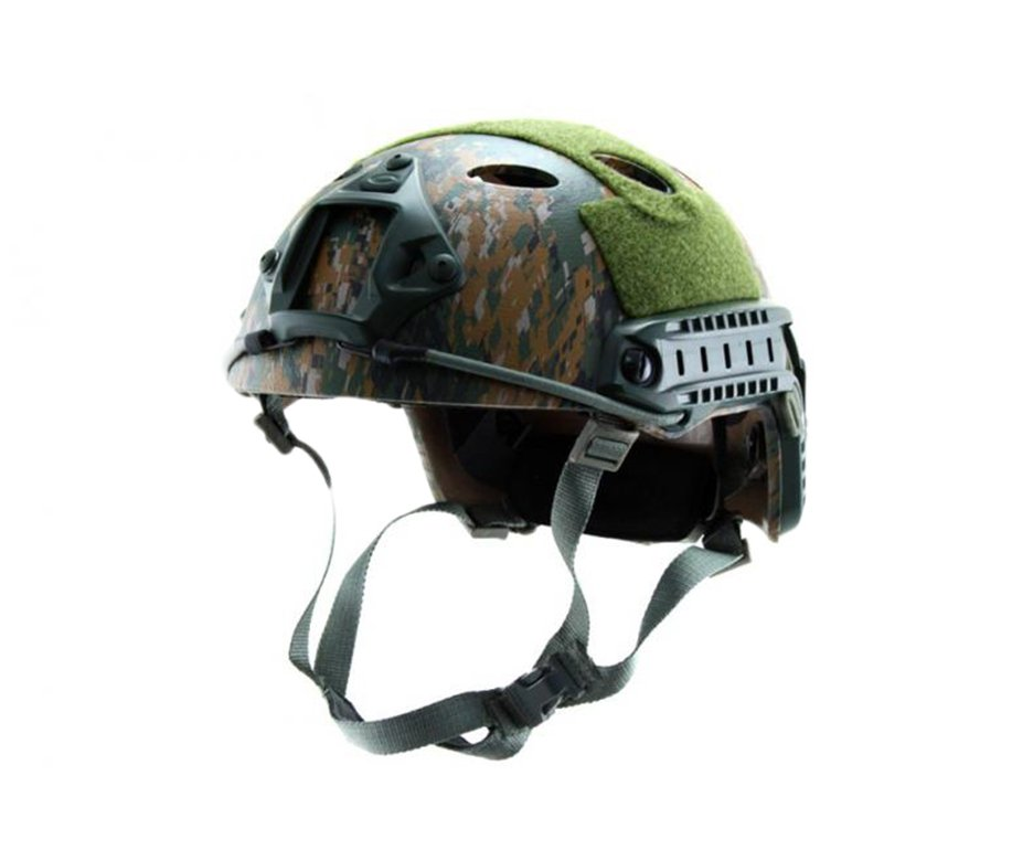 Capacete Tático Para Airsoft/paintball Mod Fast P1 Woodland Digital