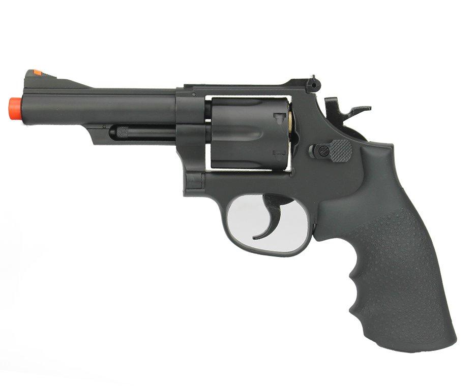 """Revólver Airsoft Green Gás Gbb M-19 4"""" 6tblack - Ug136b 6,0mm - Uhc"""