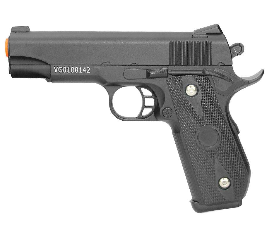 Pistola De Airsoft Vg 1911 V9 Full Metal Spring 6mm