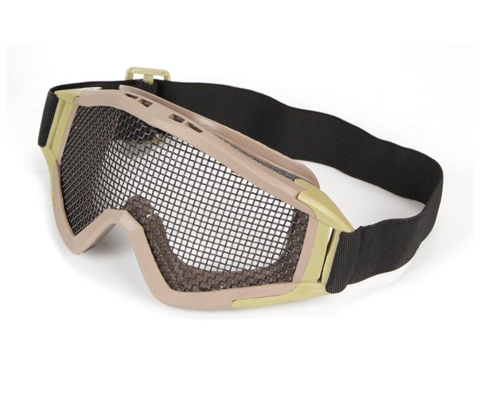 óculos De Proteção Para Airsoft Telado - Tan/desert