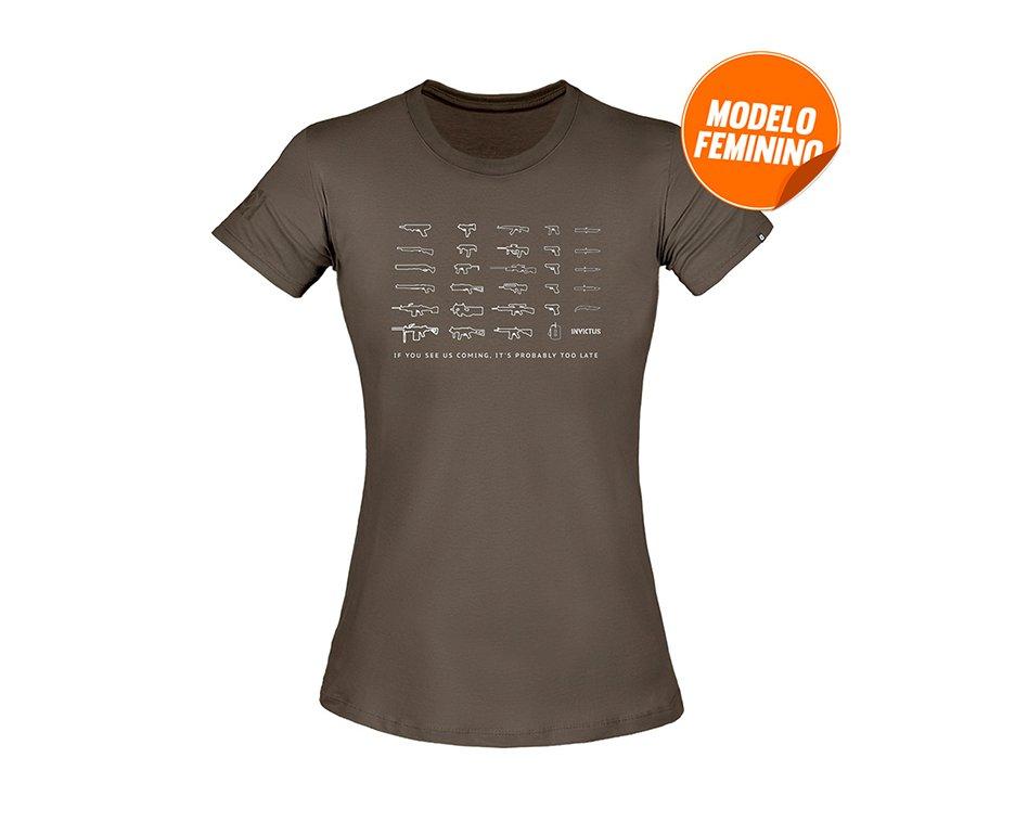 Camiseta T-shirt Invictus Concept Feminino Arsenal