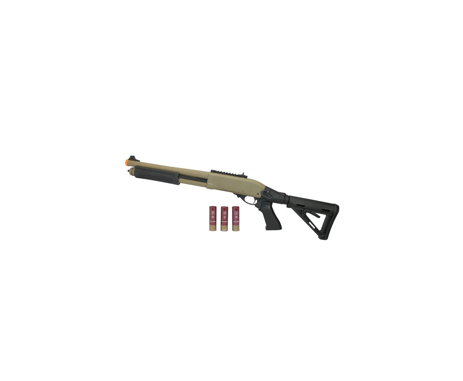 Escopeta Shotgun De Airsoft Full Metal Gbb Epg Velites G-iii Tan Cal 6mm V0006