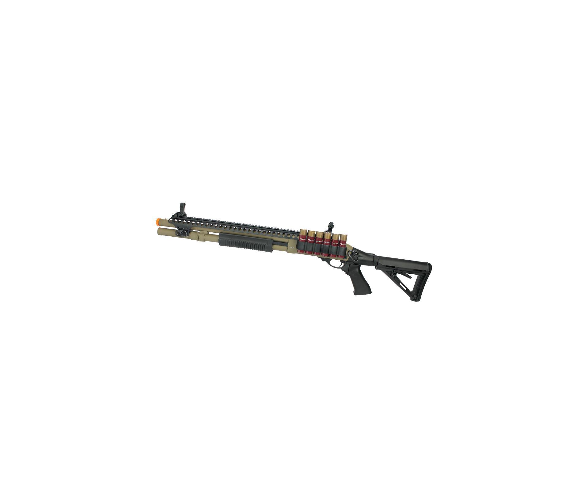 Escopeta Shotgun De Airsoft Gbb Full Metal Epg Velites G-vi Tan Cal 6mm V0003