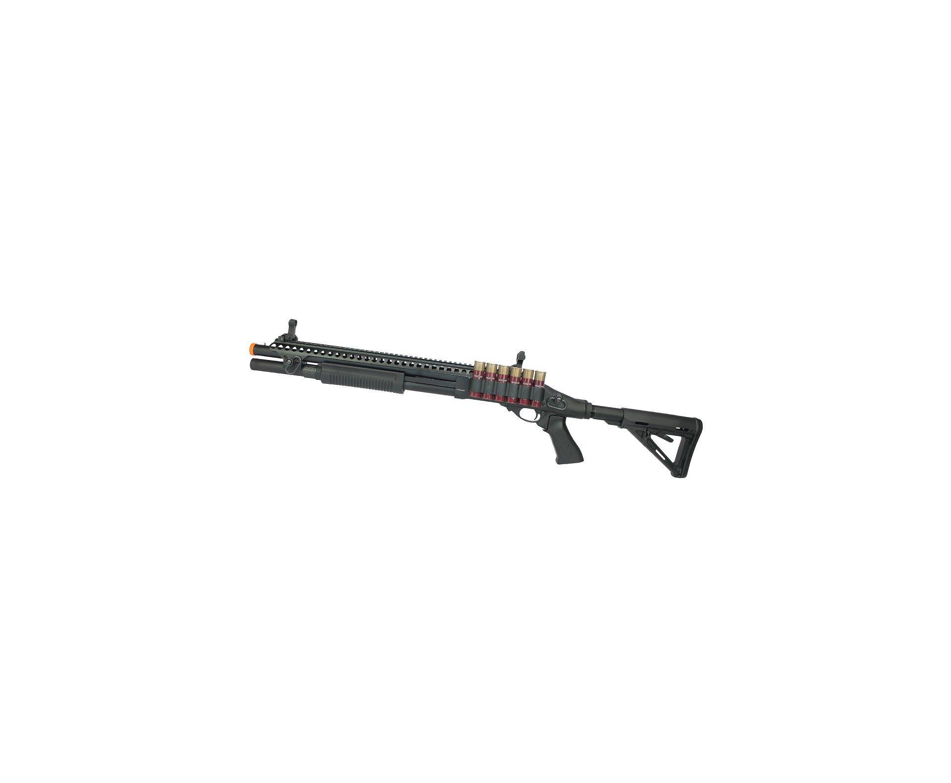 Escopeta Shotgun De Airsoft  Gbb Full Metal Epg Velites G-vi Preta - 6mm V0003