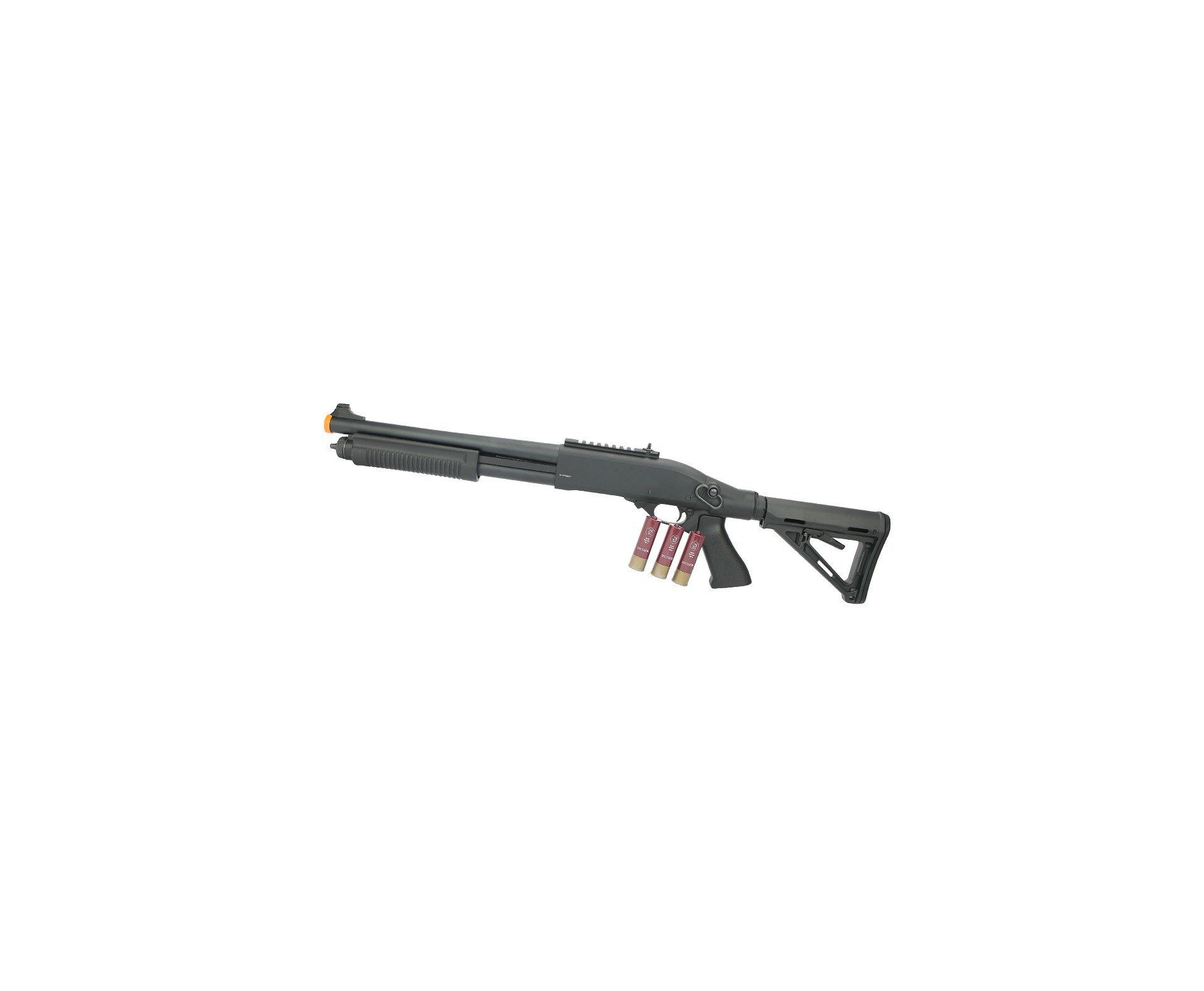 Escopeta Shotgun De Airsoft Full Metal Gbb Epg Velites G-iii Preta Cal 6mm V0006