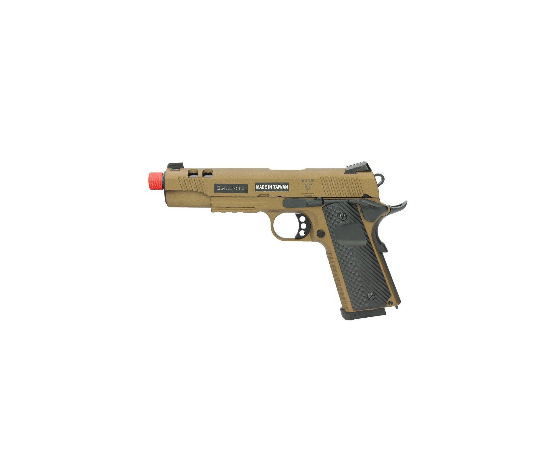 Pistola De Airsoft Co2 Secutor Rudis V Acta Non Verba Full Metal Blowback Cal 6mm
