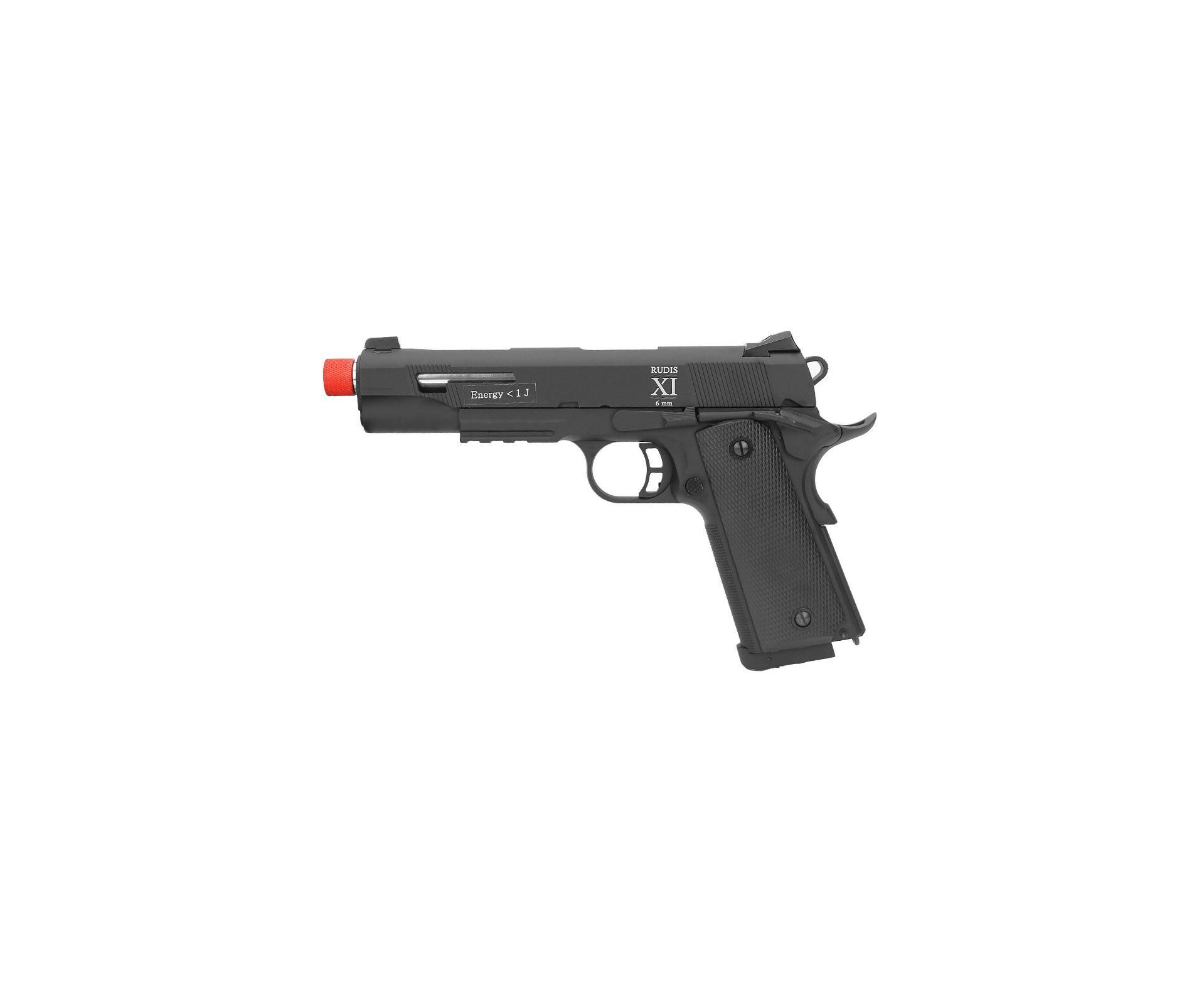 Pistola De Airsoft Co2 Secutor Rudis Xi Full Metal Com Blowback 6mm
