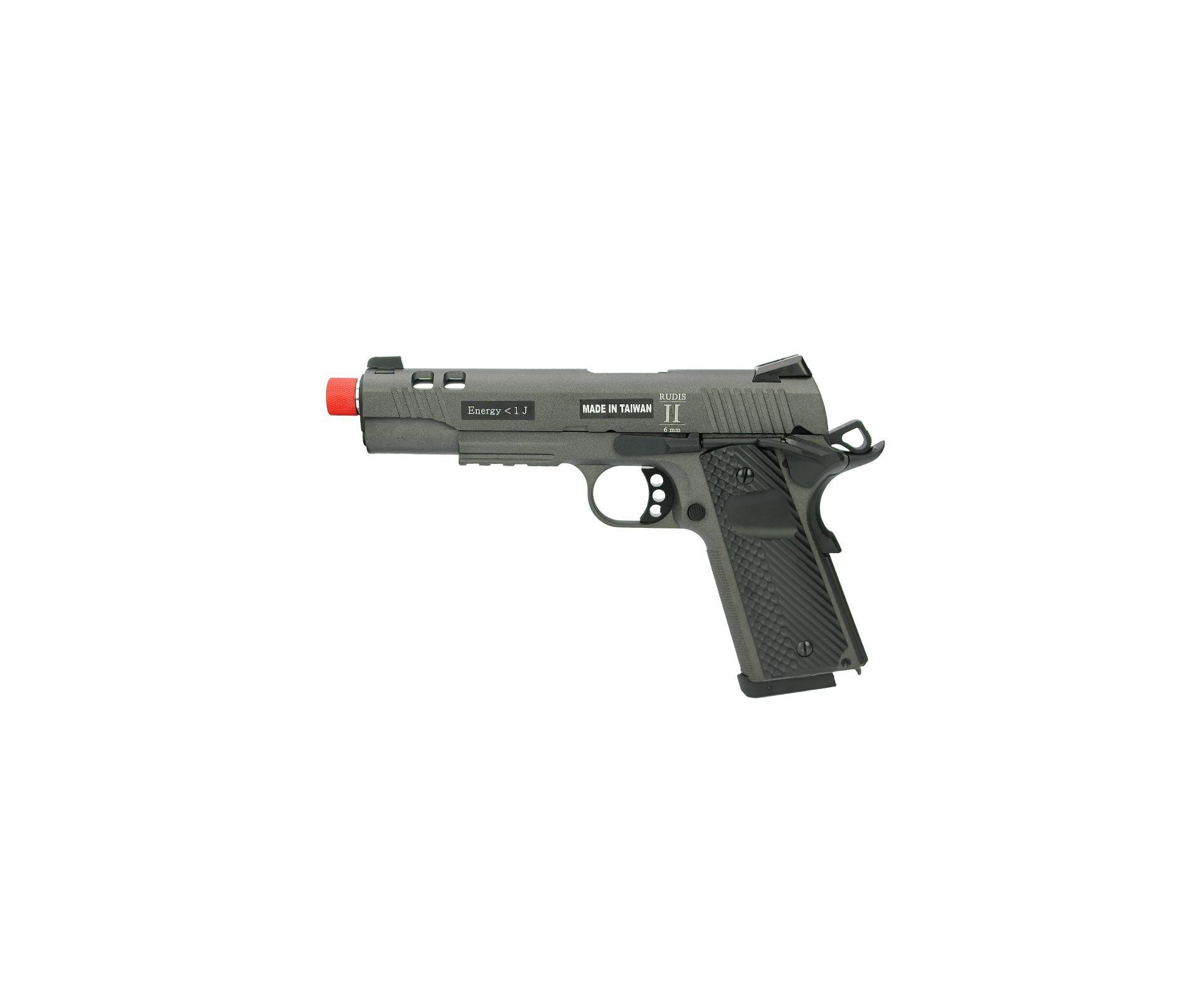 Pistola De Airsoft Co2 Secutor Rudis Ii Acta Non Verba Full Metal Com Blowback Cal 6mm