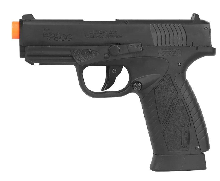 Pistola De Airsoft Co2 Asg Bersa Bp9cc Slide Metal 6mm