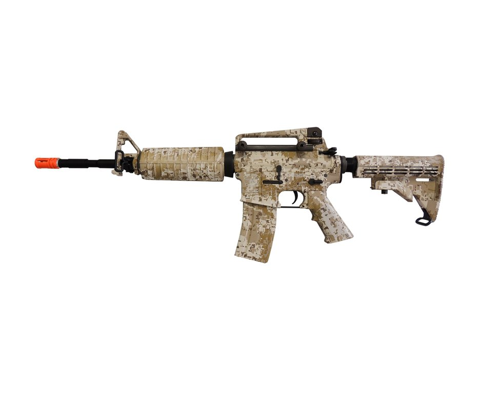 Rifle De Airsoft Navy Seals M4a1 Camuflado Desert Full Metal Cal 6.0mm Bivolt - King Arms