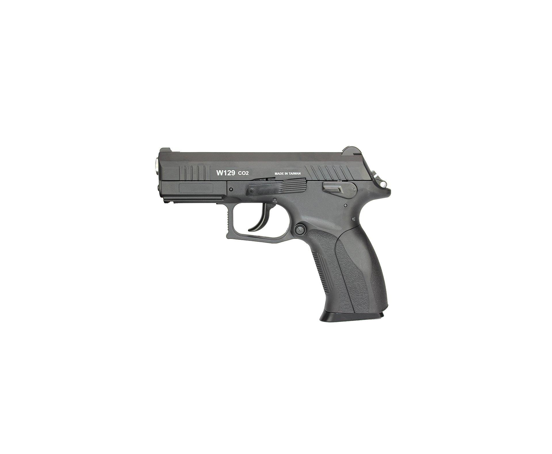 Pistola De Pressão Co2 Blowback Cz300 W129 Wingun 4,5mm