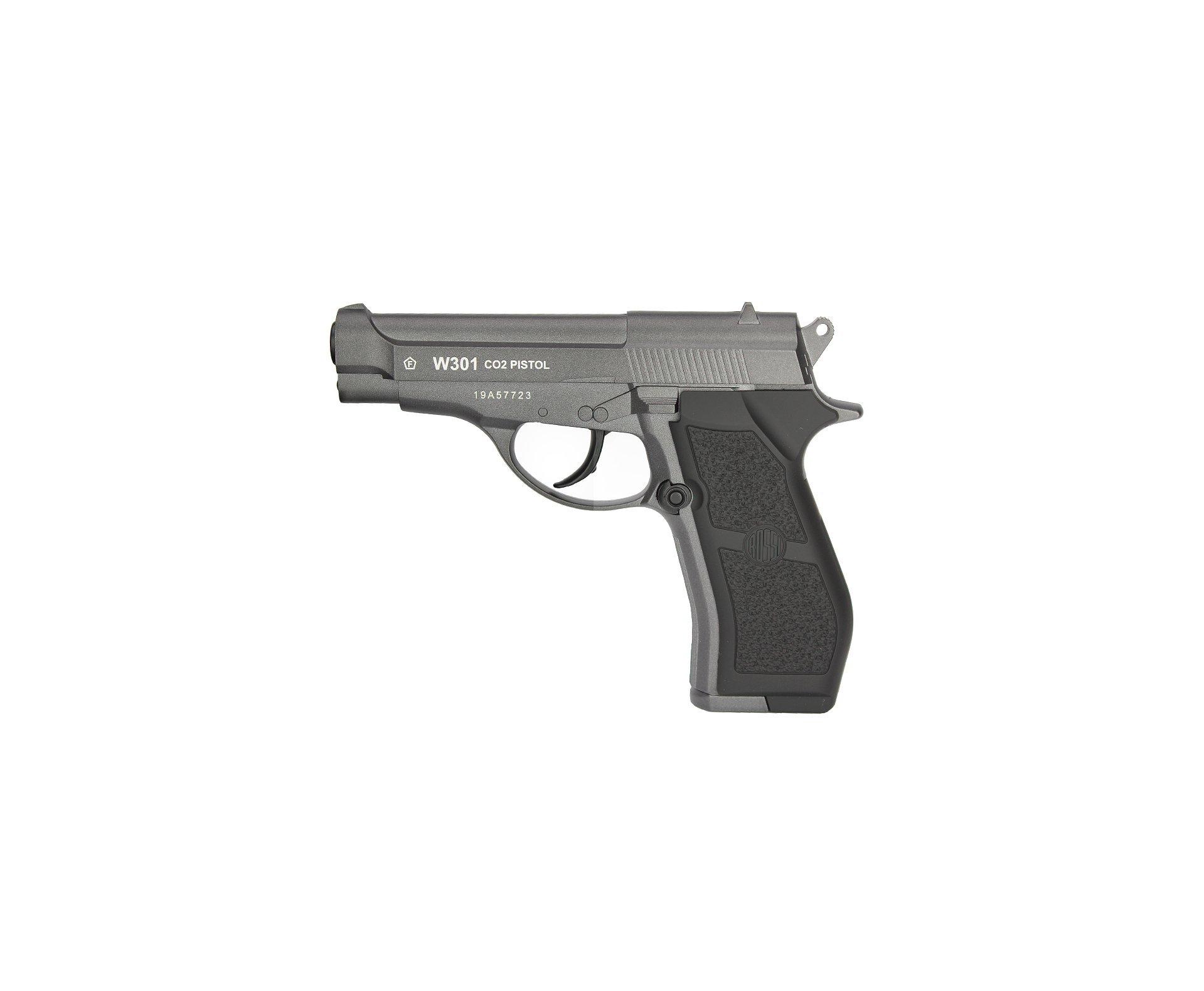 Pistola De Pressão Co2 Full Metal W301 Wingun 4,5mm