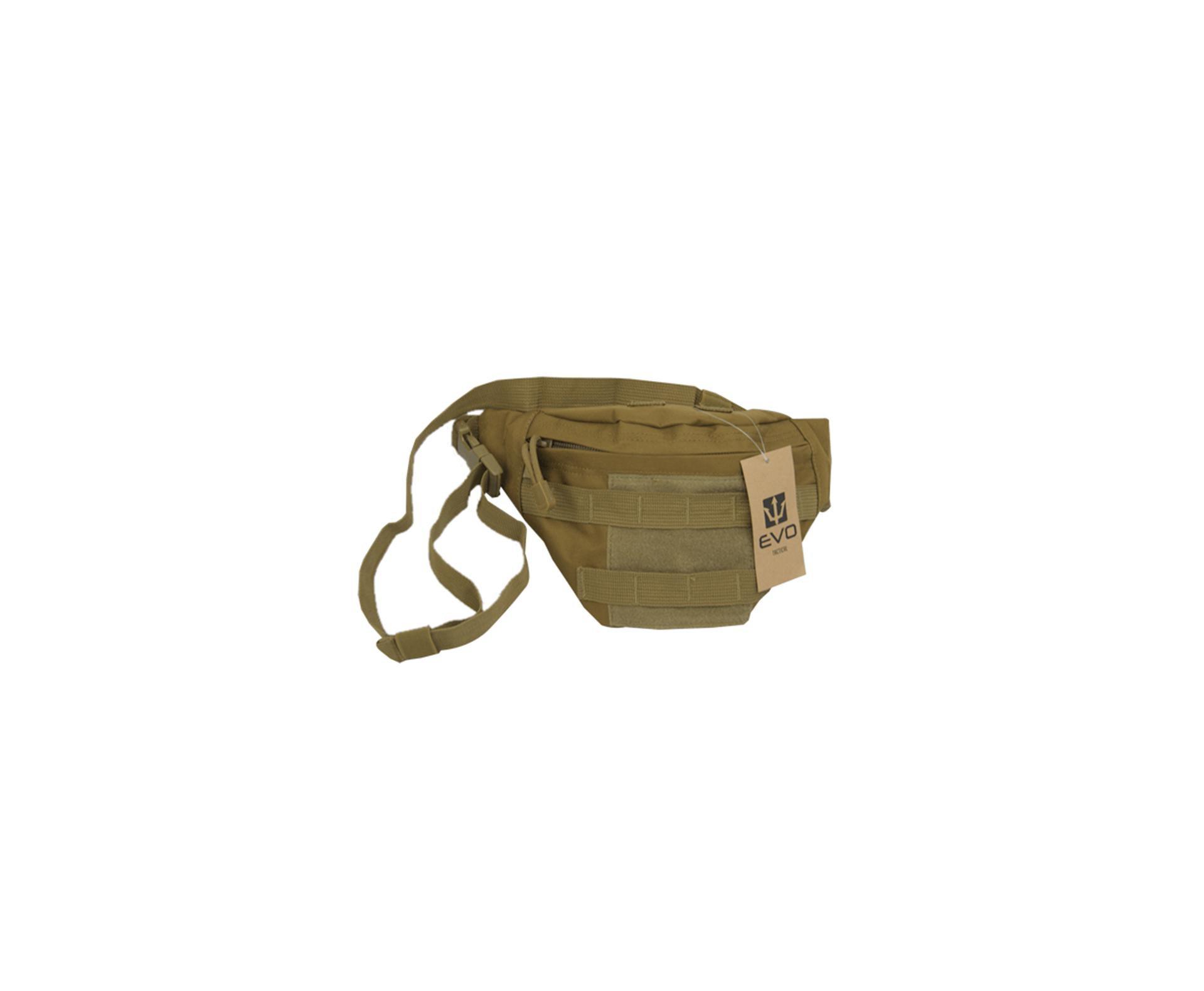 Bolsa Pochete Tática Waist Bag Po-018 Tan - Evo Tactical