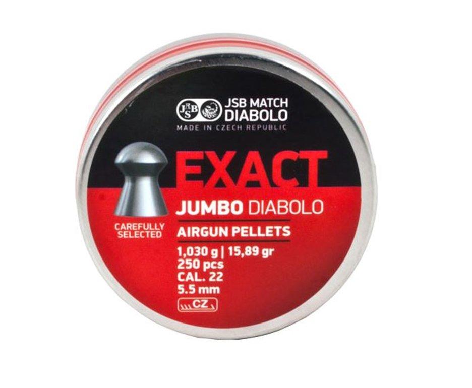 Chumbinho Exact Jumbo Diabolo Cal 5,5mm - 250 Unidades - Jsb