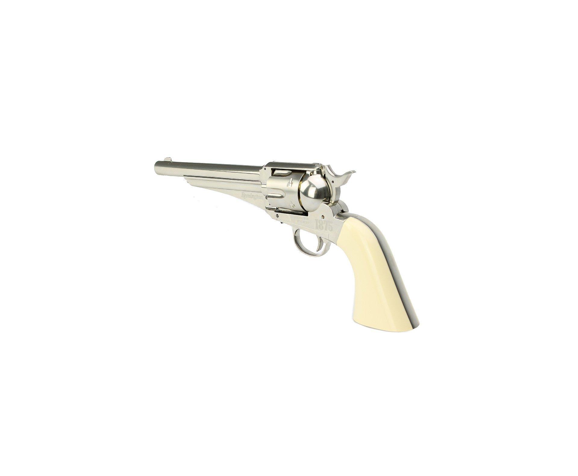 "Revolver Co2 Remington Rr1875 Full Metal 6"" Cal 4,5mm + Co2 + Bbs + Chumbinho"