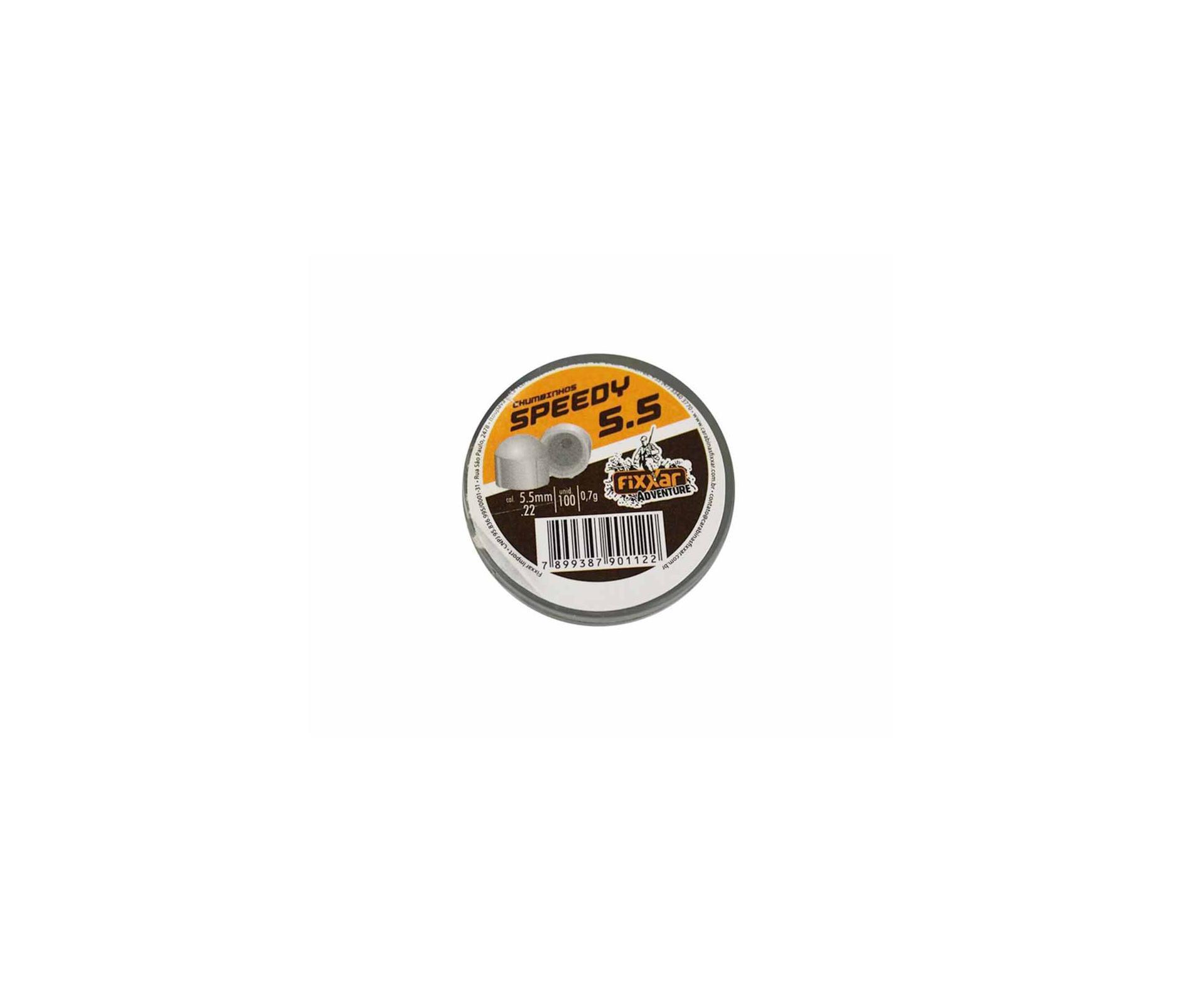 Chumbinho De Pressão Speedy 5.5 Com 100 Unidades - Fixxar