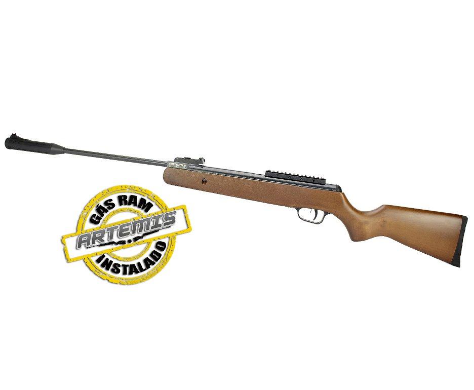 Carabina De Pressão Black Hawk Wood Edition Gas Ram 70kg 4.5mm Artemis