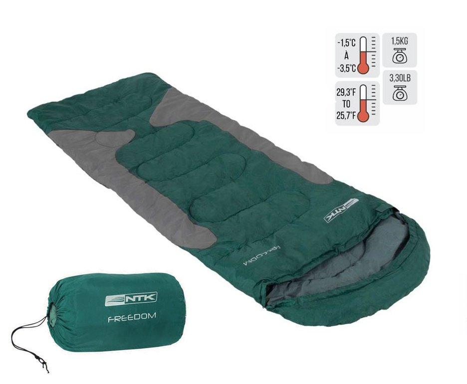 Saco De Dormir Freedom -1,5c A -3,5c Verde E Cinza - Nautika